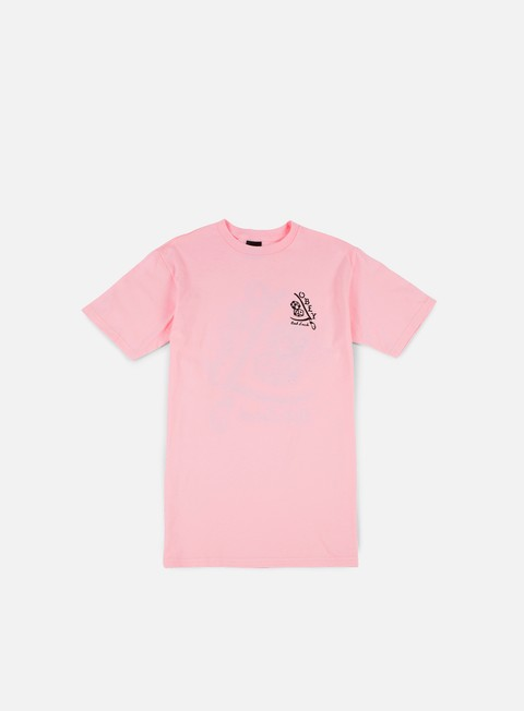 t shirt obey bad luck t shirt pink