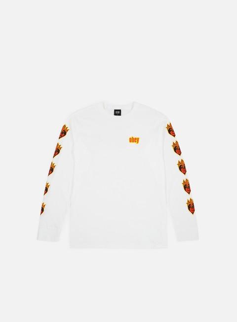 Outlet e Saldi T-shirt a manica lunga Obey Be Mine LS T-shirt