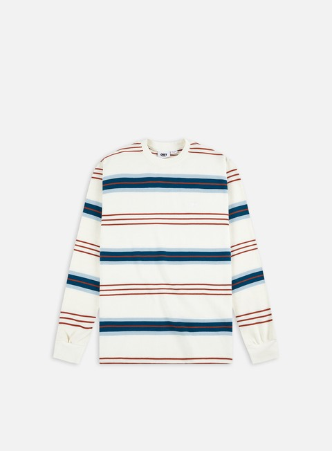Long sleeve T-shirts Obey Berto Thermal Stripe LS T-shirt