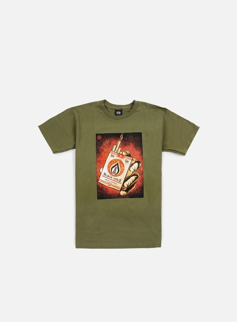 t shirt obey black gold t shirt dark olive