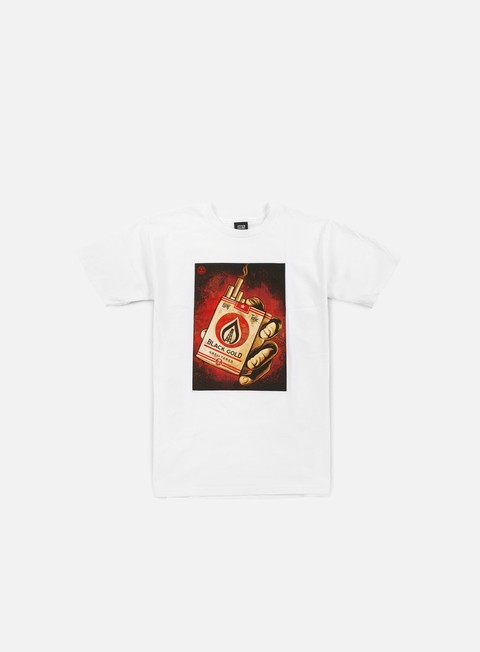 Short Sleeve T-shirts Obey Black Gold T-shirt