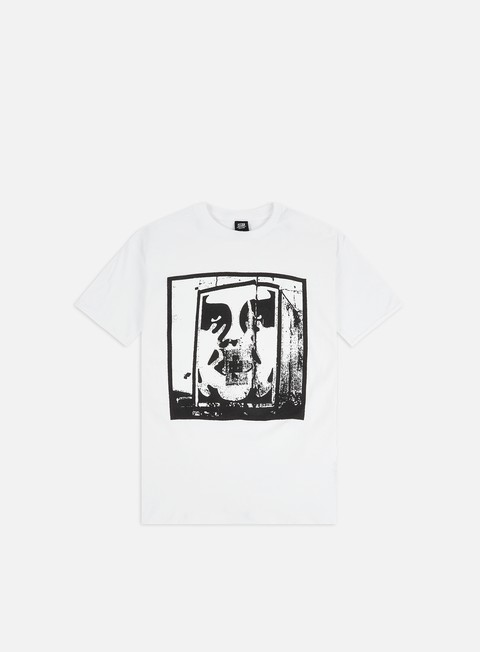 Short Sleeve T-shirts Obey Bomb The Planet Basic T-shirt