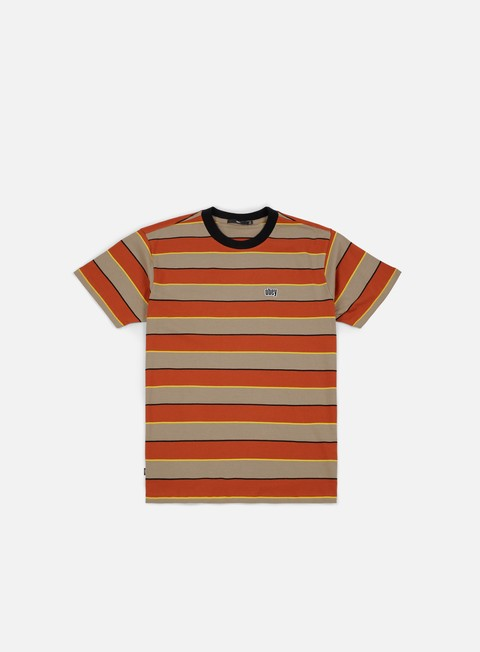 Outlet e Saldi T-shirt a Manica Corta Obey Burn Classic T-shirt