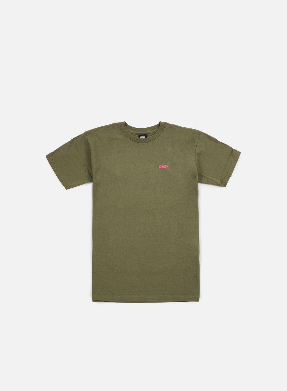 Obey - Chaos Dissent Propaganda T-shirt, Dark Olive