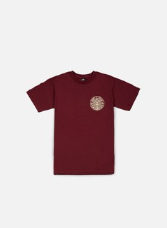 Obey - Circular Wreath T-shirt, Burgundy 1