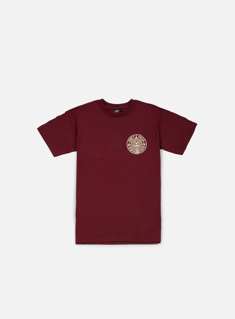 t shirt obey circular wreath t shirt burgundy