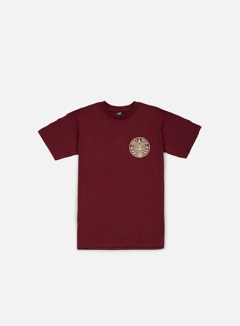 t shirt obey circular wreath t shirt burgundy