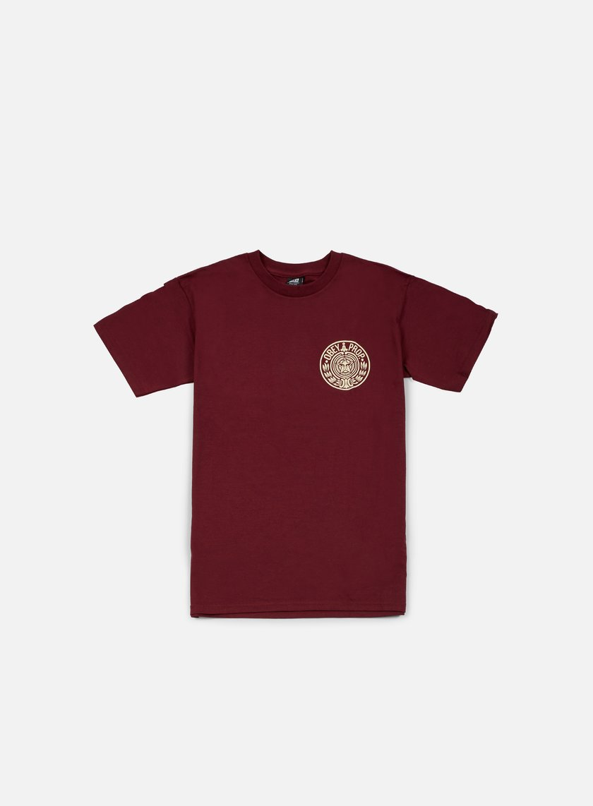Obey - Circular Wreath T-shirt, Burgundy