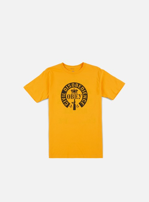 t shirt obey civil disobedience t shirt gold