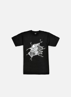 Obey - Cracked Icon Face T-shirt, Black 1