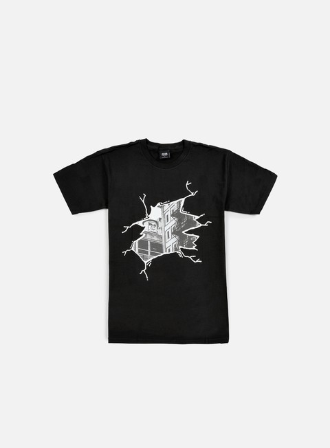 t shirt obey cracked icon face t shirt black