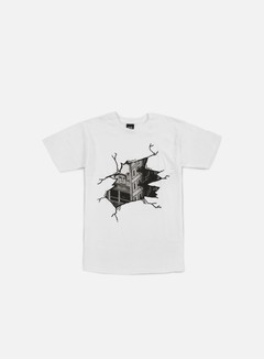 Obey - Cracked Icon Face T-shirt, White 1