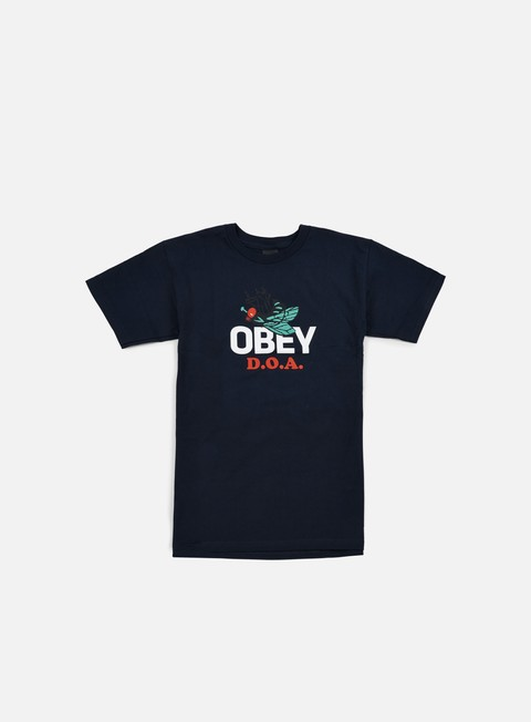 t shirt obey dead on arrival t shirt navy