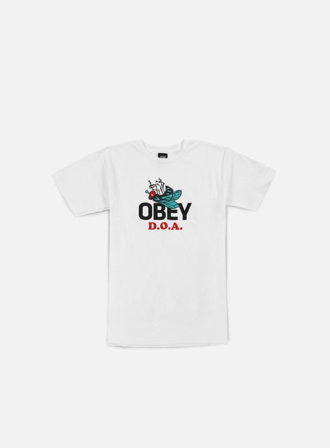 t shirt obey dead on arrival t shirt white