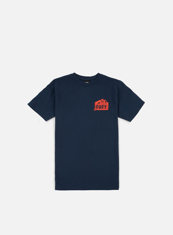 Obey - Devil T-shirt, Navy