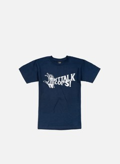 Obey - Don't Talk To Cops T-shirt, Navy 1