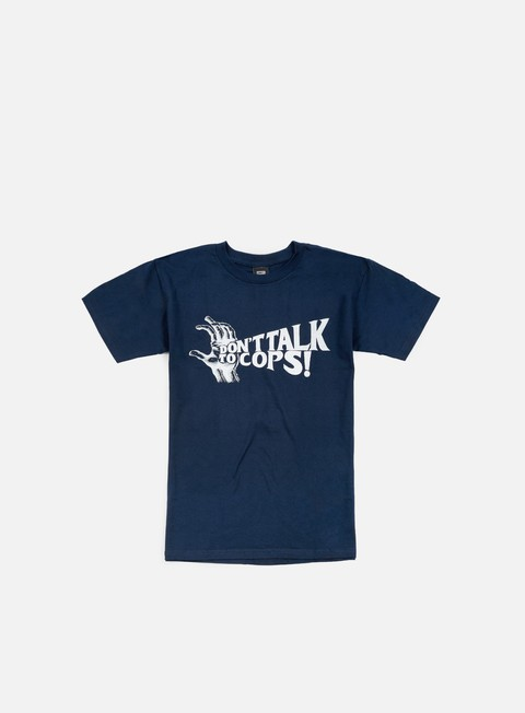 t shirt obey don t talk to cops t shirt navy