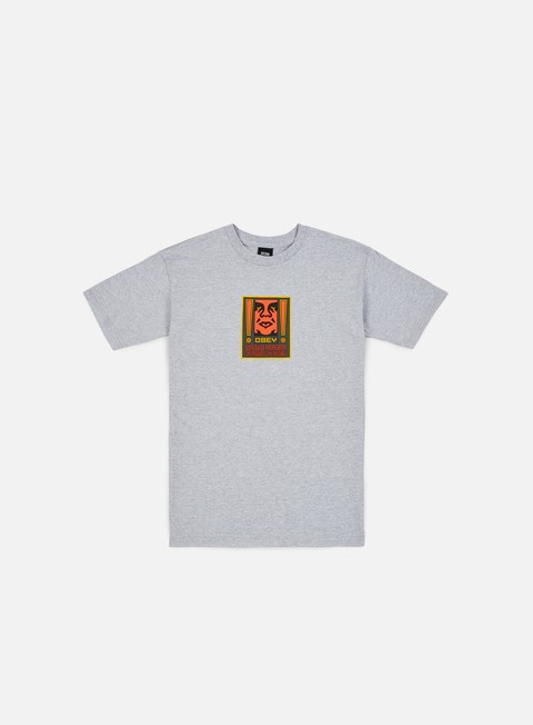 Short Sleeve T-shirts Obey Exclamation Basic T-shirt