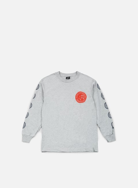 t shirt obey fear of a hacked planet long sleeve t shirt heather grey