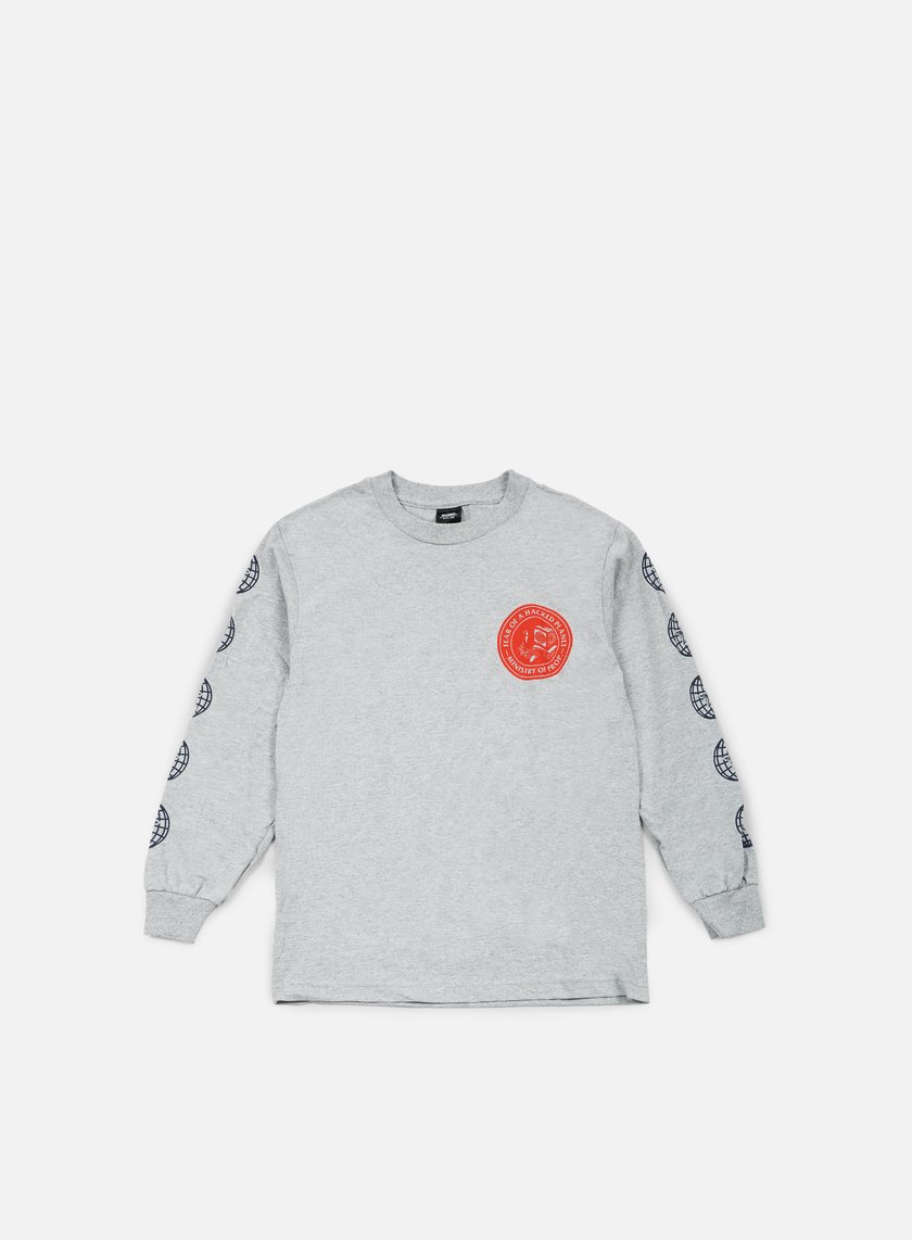 Obey - Fear Of A Hacked Planet LS T-shirt, Heather Grey