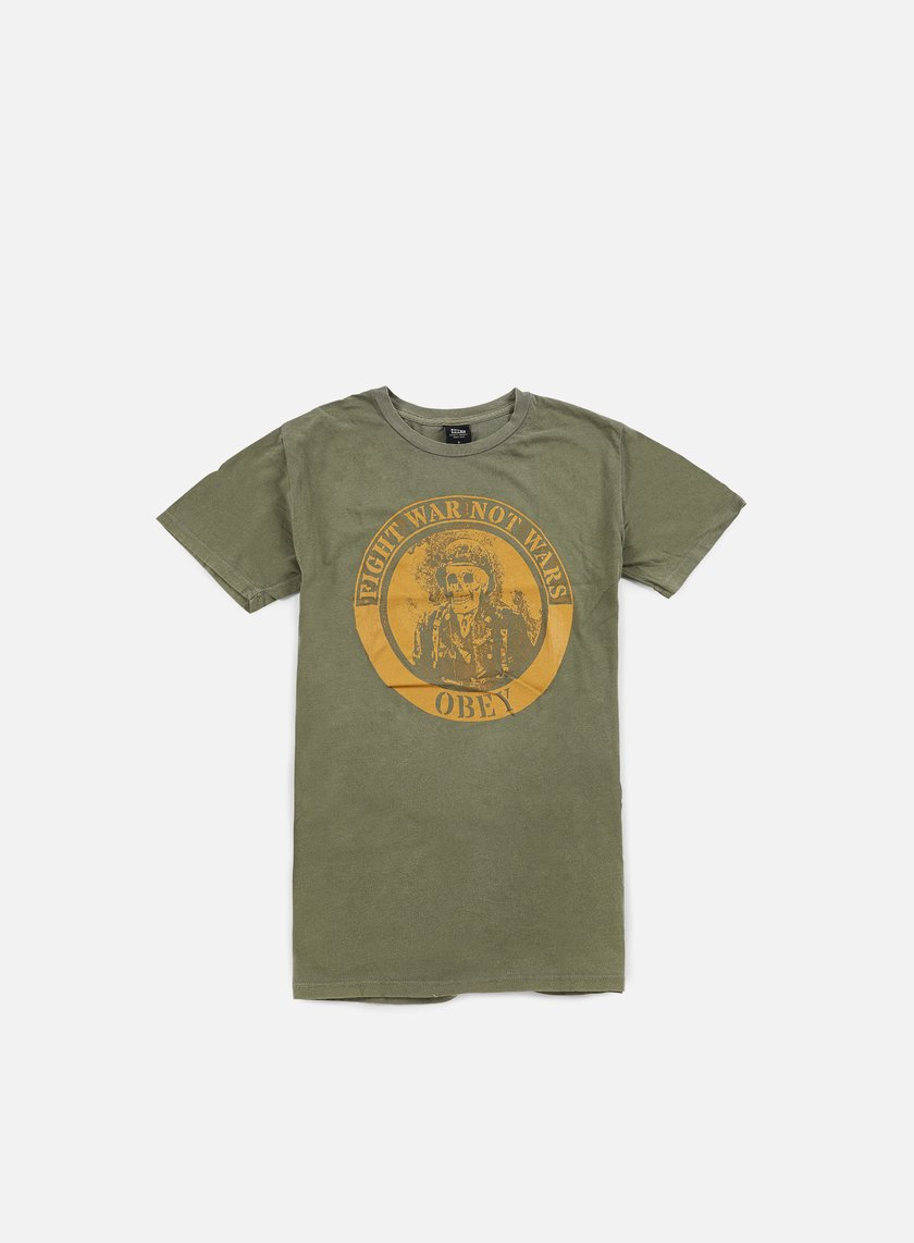 Obey - Fight War Pigment T-shirt, Dark Olive