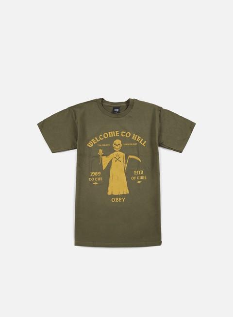 Outlet e Saldi T-shirt a Manica Corta Obey Friendly Reaper T-shirt