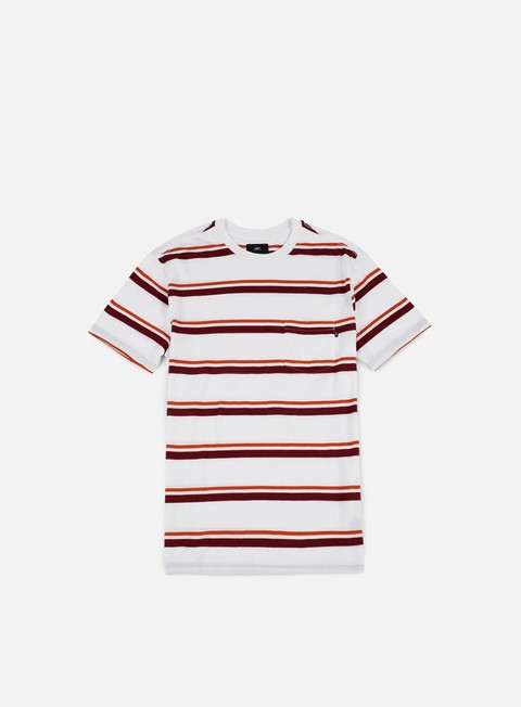 t shirt obey graham stripe pocket t shirt faded burgundy