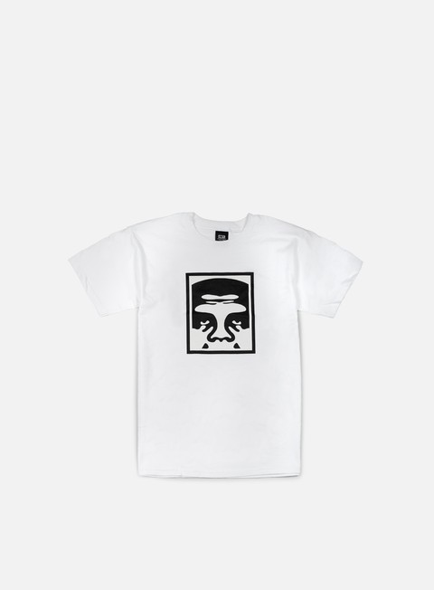t shirt obey half face icon t shirt white