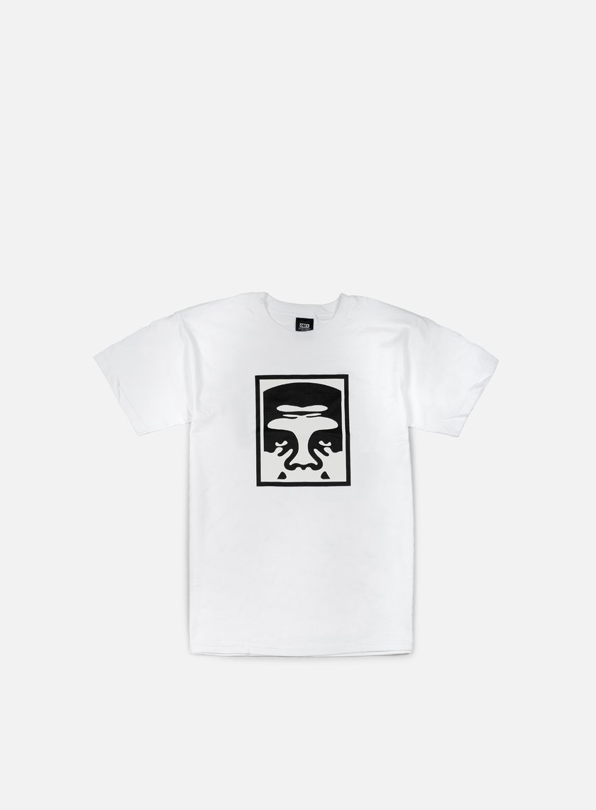 Obey - Half Face Icon T-shirt, White