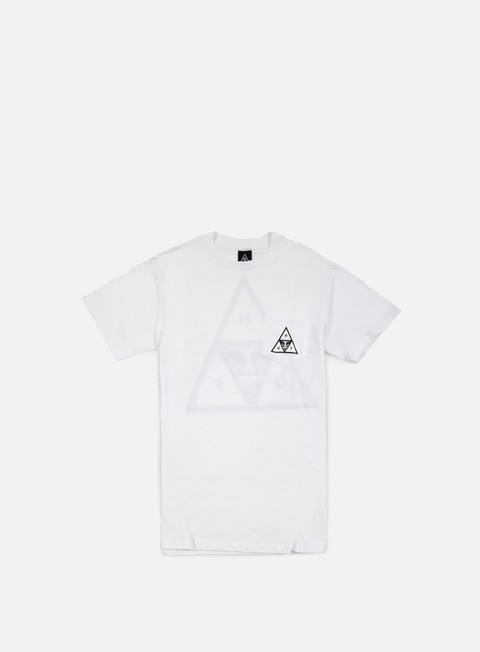 t shirt obey huf triple triangle t shirt white