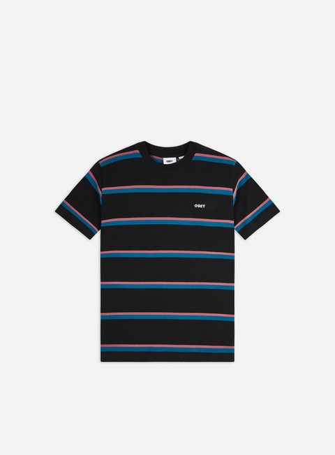Short Sleeve T-shirts Obey Ideals Organic Wide Stripe T-shirt