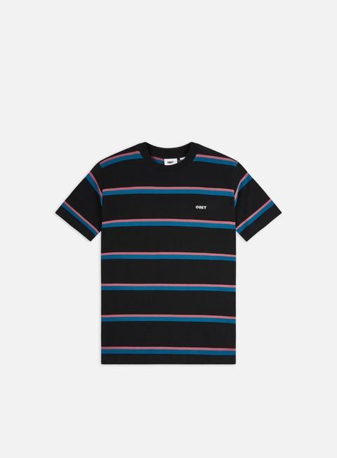 Outlet e Saldi T-shirt a Manica Corta Obey Ideals Organic Wide Stripe T-shirt