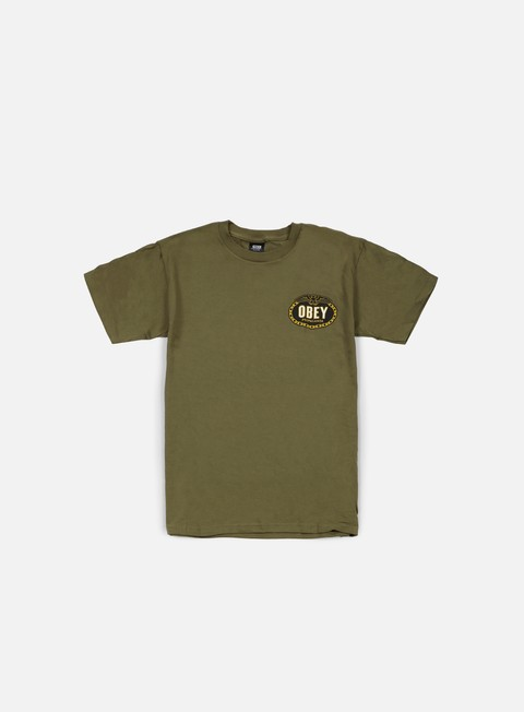 t shirt obey imperial glory eagle t shirt military green