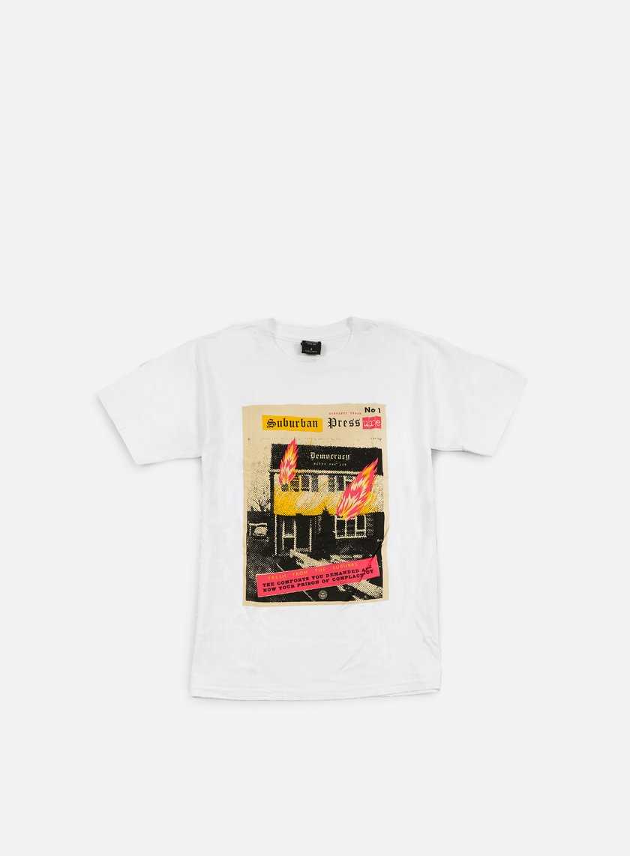 Obey - Jamie Reid Suburban Fire T-shirt, White