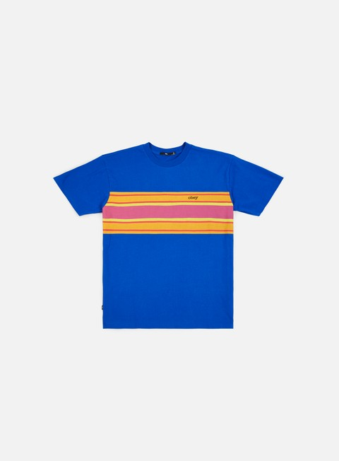 t shirt obey kelly box t shirt royal blue multi