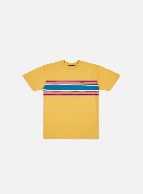 t shirt obey kelly box t shirt yellow multi