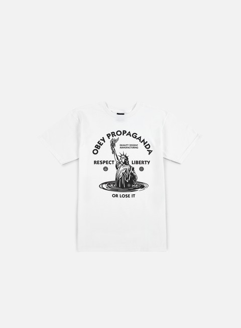Short Sleeve T-shirts Obey Lady Liberty T-shirt