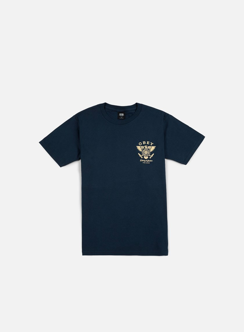 Obey - Liberty & Justice T-shirt, Navy