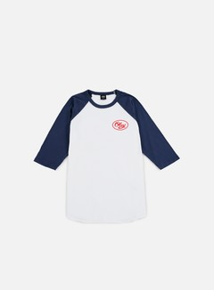 Obey - Mendenhall Script Raglan T-shirt, White/Navy