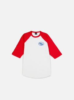 Obey - Mendenhall Script Raglan T-shirt, White/Red