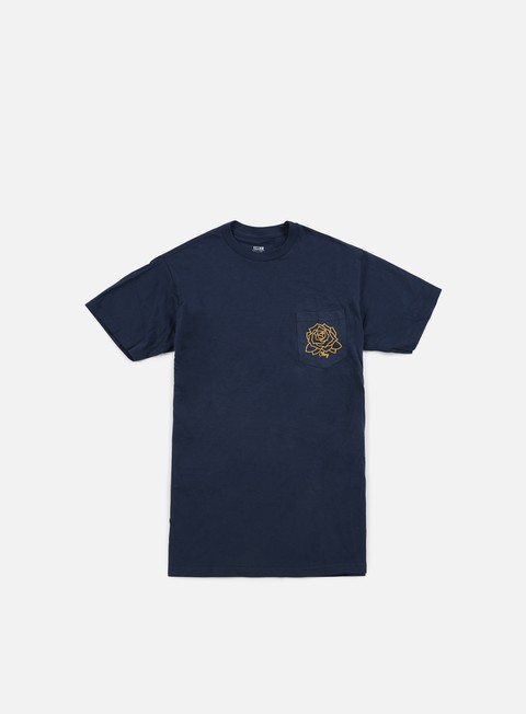 t shirt obey mira rosa premium pocket t shirt navy