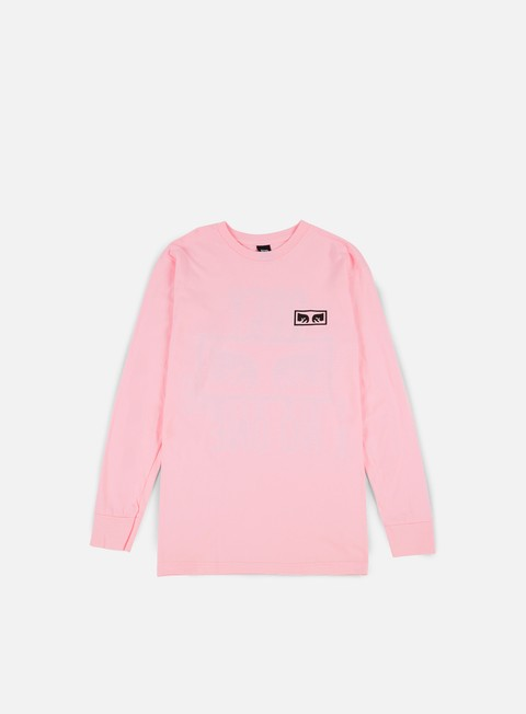 t shirt obey no one ls t shirt pink