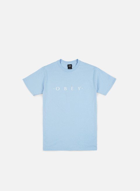 t shirt obey novel obey t shirt powder blue