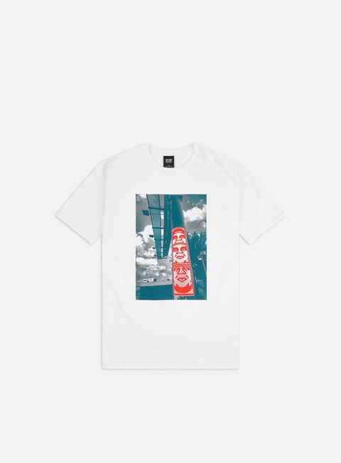 Short Sleeve T-shirts Obey Obey 3 Face Clouds Basic T-shirt