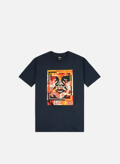 Short Sleeve T-shirts Obey Obey 3 Face Collage Basic T-shirt