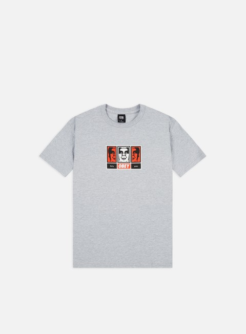 Outlet e Saldi T-shirt a Manica Corta Obey Obey 3 Faces 30 Years Basic T-shirt