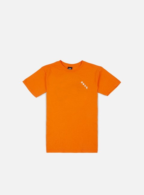 t shirt obey obey 8 ball icon t shirt orange