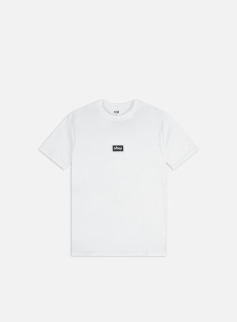 Short Sleeve T-shirts Obey Obey Black Bar Classic T-shirt