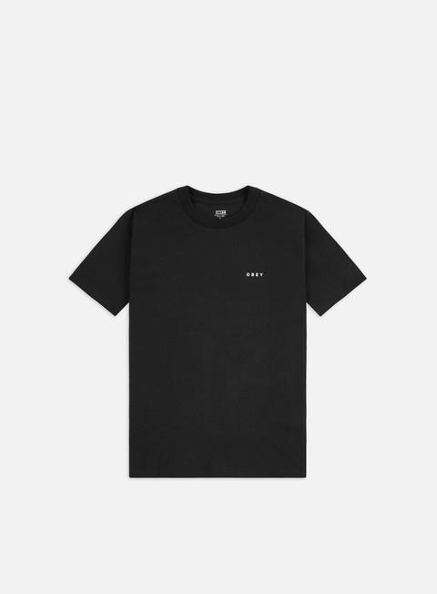 Outlet e Saldi T-shirt a Manica Corta Obey Obey Black Swan Classic T-shirt