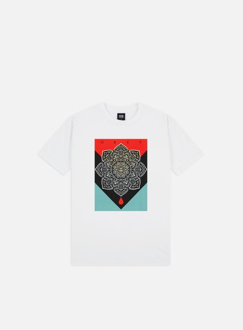 Outlet e Saldi T-shirt a Manica Corta Obey Obey Blood & Oil Mandala Basic T-shirt